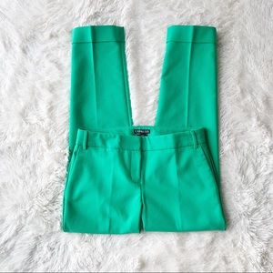 Express Editor green ankle length cuffed pants